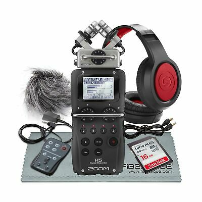 Zoom H5 4-Input / 4-Track Portable Handy Recorder w/Interchangeable Microphon...