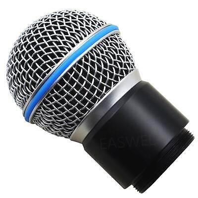 Replacement Wireless Capsule Head for Shure Mic System SM58 BETA58/58A PGX4 SLX4