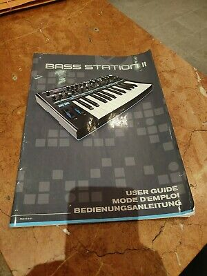 Novation Bass Station 2 Owners Manual.