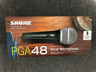 Shure PGA 48 vocal microphone Sealed,Brand New In Original Factory Box.