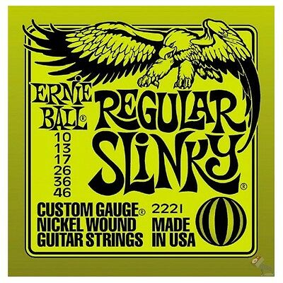 2 SETS ERNIE BALL REGULAR SLINKY GUITAR STRINGS 10's • 15£