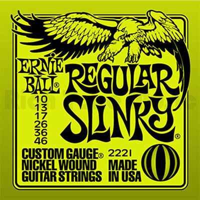 6 X ERNIE BALL REGULAR SLINKY ELECTRIC GUITAR STRINGS 10's 6 Sets • 46.99£