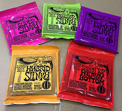 1 Set Pack Ernie Ball Electric Guitar Strings Slinky Nickel Wound • 7.99£