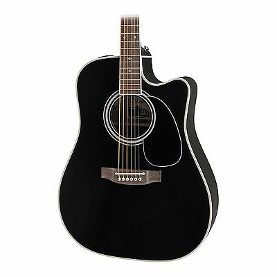 Takamine EF341SC Acoustic Guitar In Black Finish With Hard Case • 953.84£