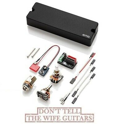 EMG 45J BLACK 6 STRING BASS SOAPBAR W/ JAZZ BASS J PICKUP SOUND POTS & WIRING • 87.13£