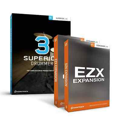 ToonTrack Superior Drummer 3 + 2 EZX Expansions Of Choice (Serial Download) • 379£