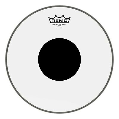 Remo Controlled Sound, Clear, 12 Diameter, Black Dot On Top