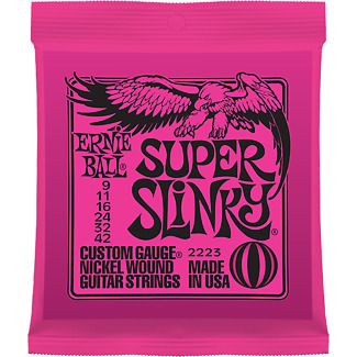 Ernie Ball 2223 Nickel Super Slinky Custom Electric Guitar Strings .009 - .042 • 3.25£