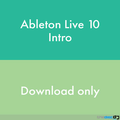 Ableton Live 10 Intro DAW Software Download • 79.50£