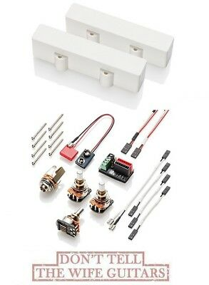 Emg J5x Set White 5 String Jazz Bass J Solderless Active X Series Pickups • 167.58£