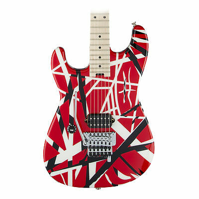 EVH Striped Series Left Handed Electric Guitar In Red Black And White Stripes • 793.61£