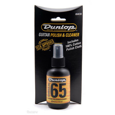 Dunlop Formula 65 Guitar Polish & Polishing Cloth Combo • 4.99£