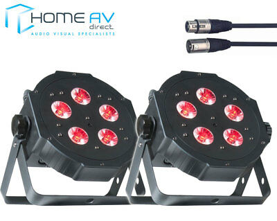 2X ADJ MEGA TRIPAR PROFILE PLUS LED Colour PAR CAN Up Light Club Bar DJ + 3M DMX • 134.99£