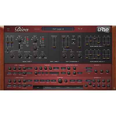 U-he Diva - Dinosaur Impersonating Analogue Synthesizer (Serial Download) • 148.99£