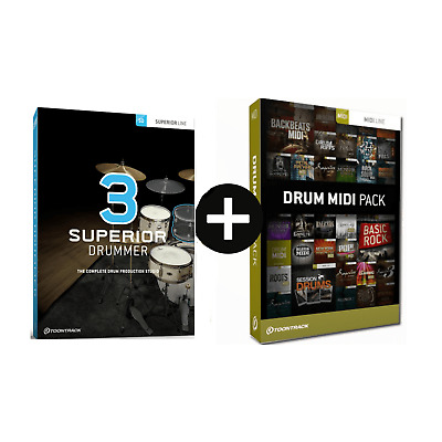 Toontrack Superior Drummer 3 With Free Drum Midi Pack Of Choice Serial Download • 284£