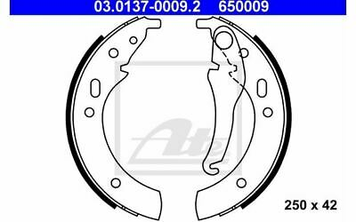 ATE Brake Shoe Set 03.0137-0009.2 - Discount Car Parts • 23£