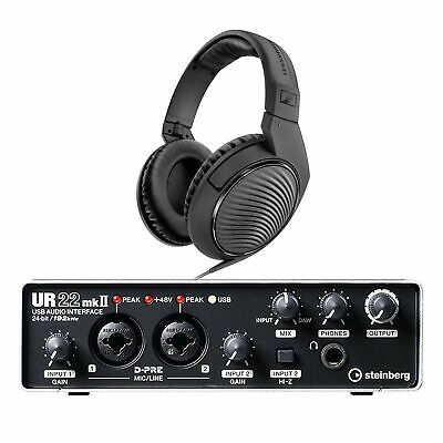 Steinberg UR22 MK2 Two-Channel USB Audio Interface With FREE Headphones • 114.89£