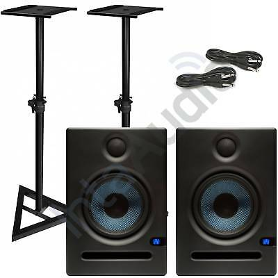 Presonus Eris E5 Studio Monitors Plus Speaker Stands & Cables - Free UK Delivery • 279£