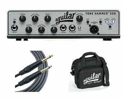 Aguilar Tone Hammer 500 500-Watt Bass Head + Carry Bag + Mogami Cable • 688.03£