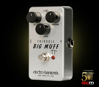 Electro-Harmonix Triangle Big Muff Pi Electric Guitar Distortion Sustain Pedal • 118.73£