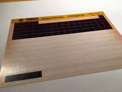 Yamaha TDR240 1988 3CL1 TDR 240 Micro Form Parts List Catalogue Microfiche • 11.96£