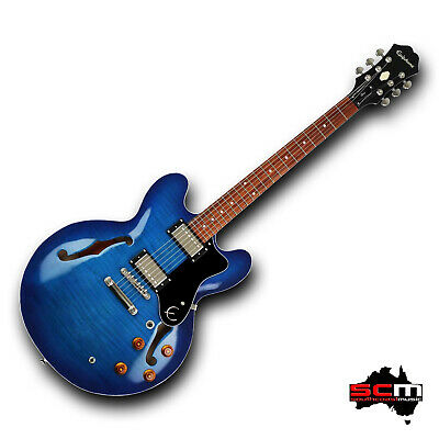 Epiphone ES335 Dot Deluxe AM ETDDAMNH1 Semi Hollow Electric Guitar Aquamarine • 501.08£