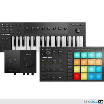 NI Maschine Mikro MK3, Komplete Kontrol M32 + Audio 2 Interface Bundle Deal • 419£