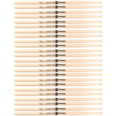 12 Pairs Pro Mark SD9 Teddy Campbell Hickory Wood Tip Oval Med Taper Drumsticks • 77.80£