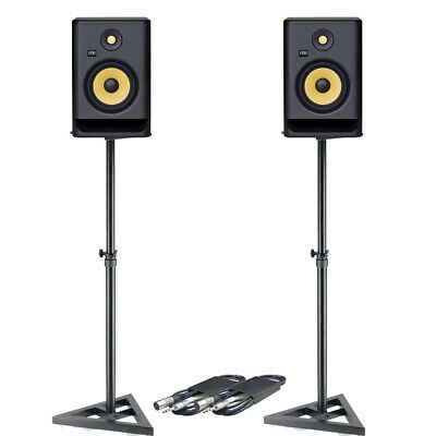 KRK Rokit RP7 G4 (Pair) + Monitor Stands & Cables Bundle Deal • 448£