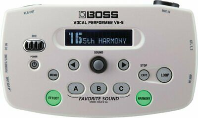 BOSS Vocal Performer White VE-5-WH New In Box • 224.50£