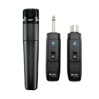 Shure SM57-LC Instrument Mic W/ Knox Mic Bluetooth Module Adapter & Receiver • 134.88£