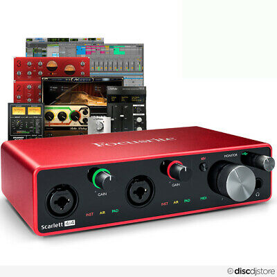 Focusrite Scarlett 4i4 (3rd Gen) USB Audio Interface + Free Plugin Bundle • 199£