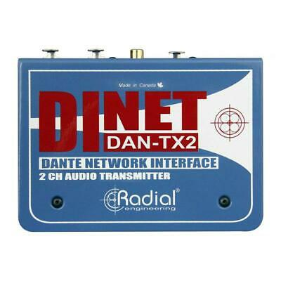 Radial Engineering DiNET DAN-TX2 2-Channel Dante Network Transmitter • 287.97£
