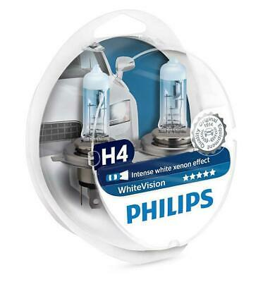 Philips H4 White Vision 472 Xenon Effect Headlight Bulbs 12342WHVSM SET • 17.34£