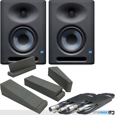 Presonus Eris E5XT Active Studio Monitors With Iso Pads & 3mtr Jack - XLRm Leads • 299£