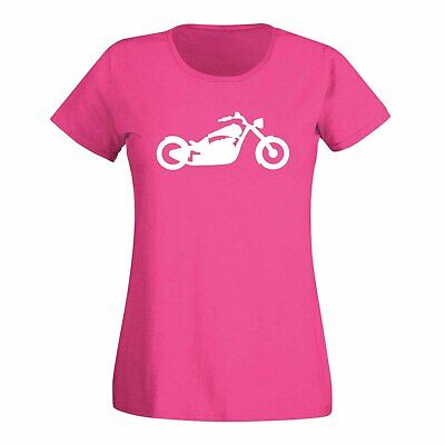T-Shirt Chopper Biker Motorcycle Rocker Cruiser Rider 15 Colors Ladies XS - 3XL • 12£