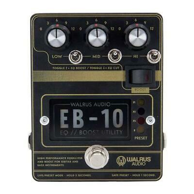 Walrus Audio EB-10 Preamp EQ Boost Pedal Black • 172.25£