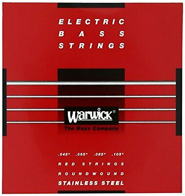 WARWICK Electric Bass Strings 4-string Set Stainless 42200 RED Strings Medium • 21.89£