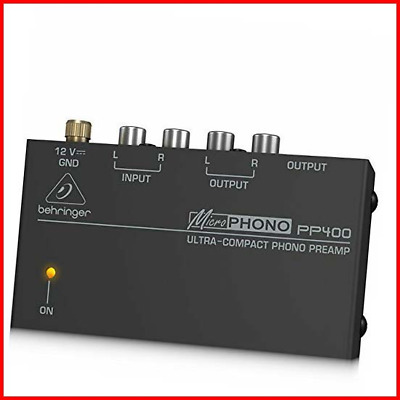 Behringer PP400 Microphono Ultra Compact Phono Preamp Assorted Colour • 28.47£