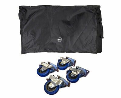 RCF SUB 8006-AS Cover For Subwoofer + Locking Wheels Casters 4-Pack • 183.53£