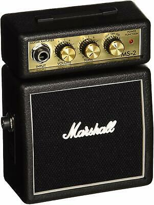 New Mini Marshall MS2 Micro Amp - Black Miniature Guitar Practice Amp Gibson • 49.99£