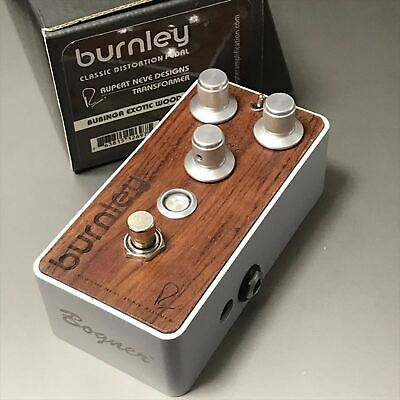 Used Burnley Bubinga Wood Finish Bogner Distortion Guitar Effects Pedal Rare F/S • 248.60£