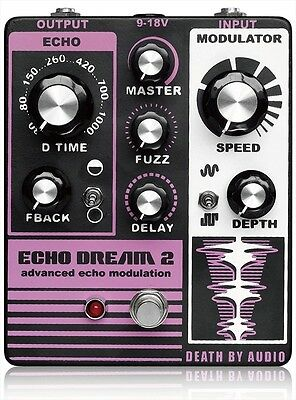 New Death By Audio Echo Dream 2 Guitar Effect Pedal Fuzz Delay from Japan