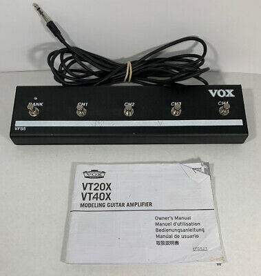 Vox VFS-5 Footswitch For VOX VT20X & VT40X Modeling Amp W. Amp Manual • 53.56£