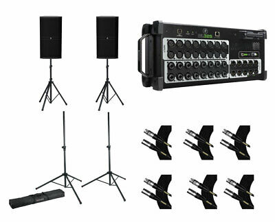 Mackie DRM315 (x2) + Mackie DL32S + Stands W/ Bag + Mogami Cables • 2,923.63£