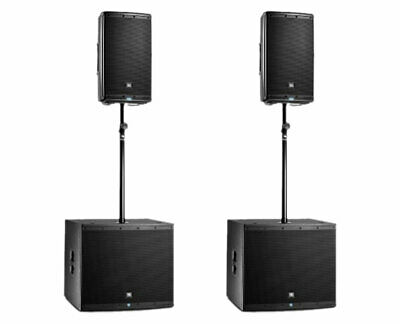 2x JBL EON615 Powered Speaker Active Monitor + 2x EON618S Subwoofer + Sub Poles • 1,996.28£