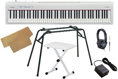 Roland Fp 30 Wh Limited Quantity Keyboard Bench Set White Electronic Piano Fp30 • 1,027.31£