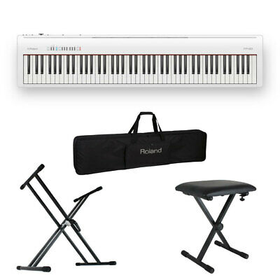 Roland Fp 30 Wh Electronic Piano X-Type Stand X-Shaped Chair Set With Carrying • 1,094.45£
