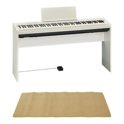 Mint Roland Fp 30 Wh Electronic Piano Genuine Stand Mat Cream With Set • 1,119.20£