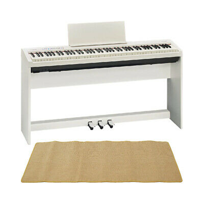 Mint Roland Fp 30 Wh Electronic Piano Genuine Stand Pedal Unit Mat Cream With • 1,206.36£